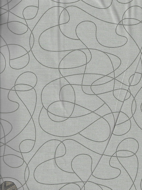 Grey on Grey Squiggles 2.8m Wide A0847 Nutex