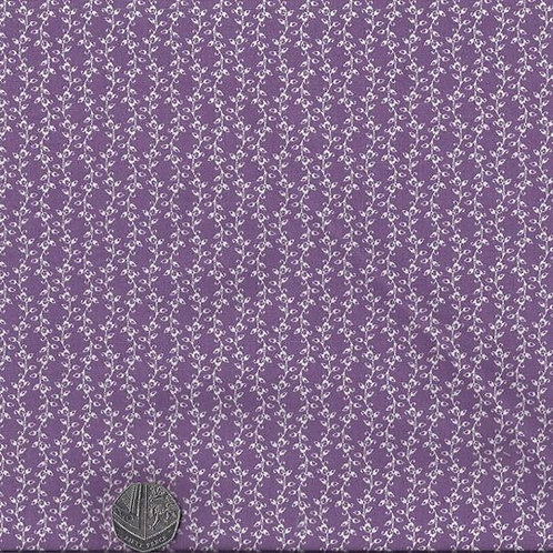 White Vines on Purple A0519