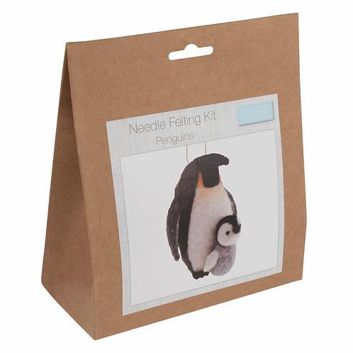 Needle Felt Kit Penquins Trimits
