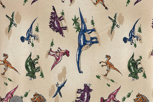 Dinosaurs on Beige Nutex  A0014