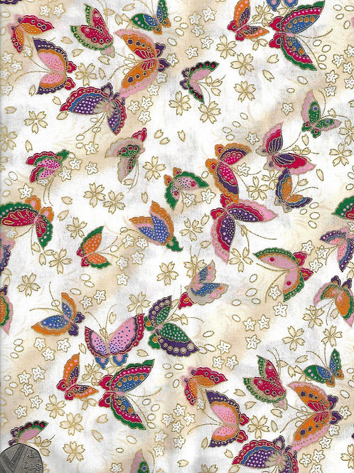 Furai - Butterflies on Cream A0179 Nutex 66760 102