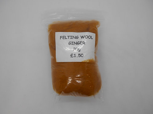 Ginger Felting Wool 20g