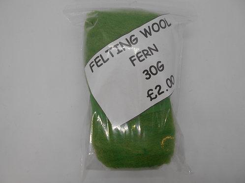 Fern Felting Wool 30g