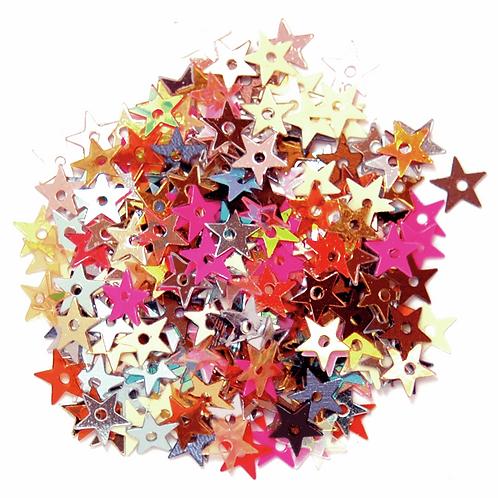 5mm Star Sequins Multicoloured CF01/01507