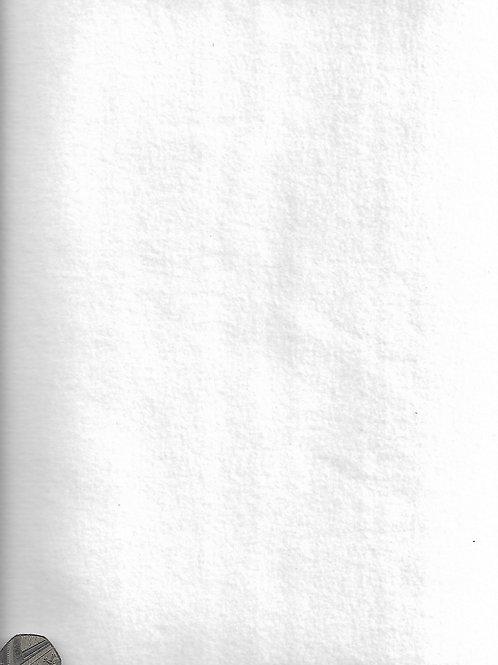 Plain White Fleece F0016