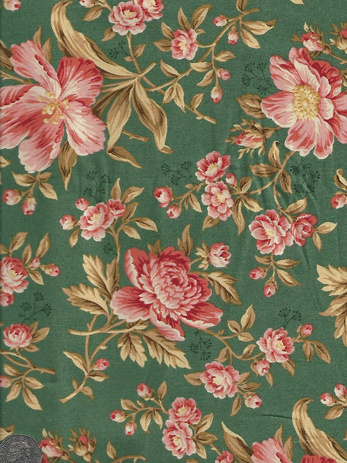 Pink Roses on Green A0638 Andover