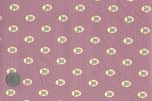 Flower Medallions on Pink A0183