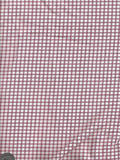 "Dusky Pink & White Check A0812 144cm / 56"""