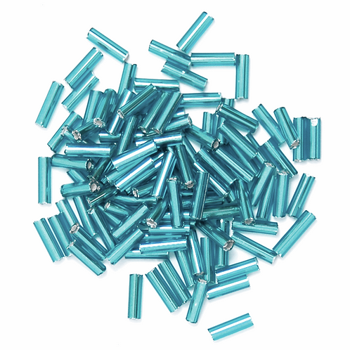 6mm Bugle Beads Ice Blue CF01/05012
