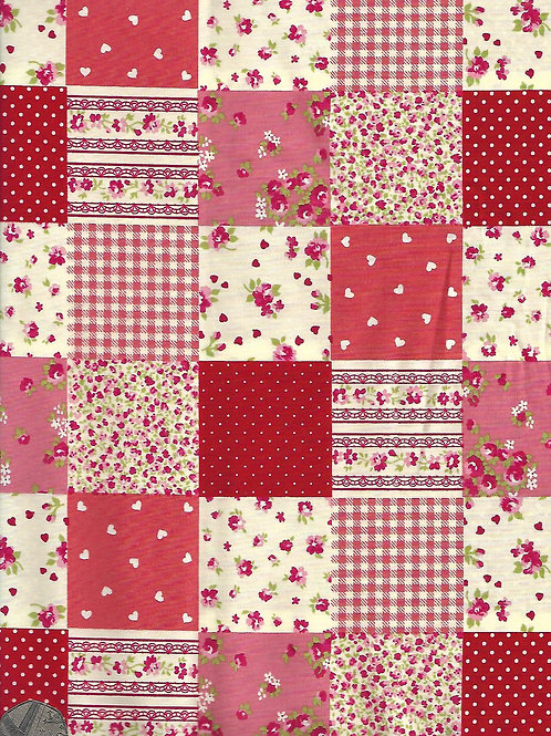 Red and Cream Patchwork A0599