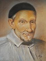 pastel Saint Vincent de Paul