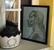 tableau portrait crayon