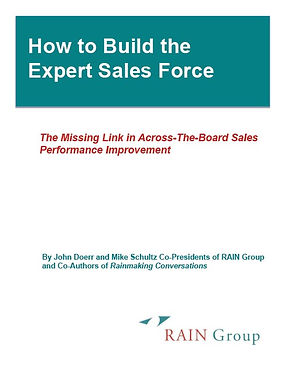 RAIN How To Build The Expert Sales Force