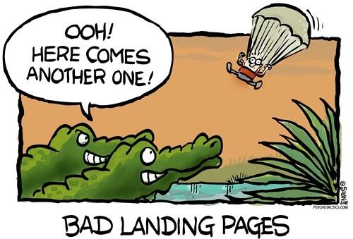 landing page jebakan