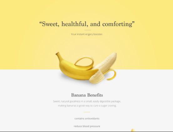 landing page pisang