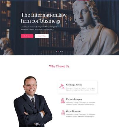 landing page international law