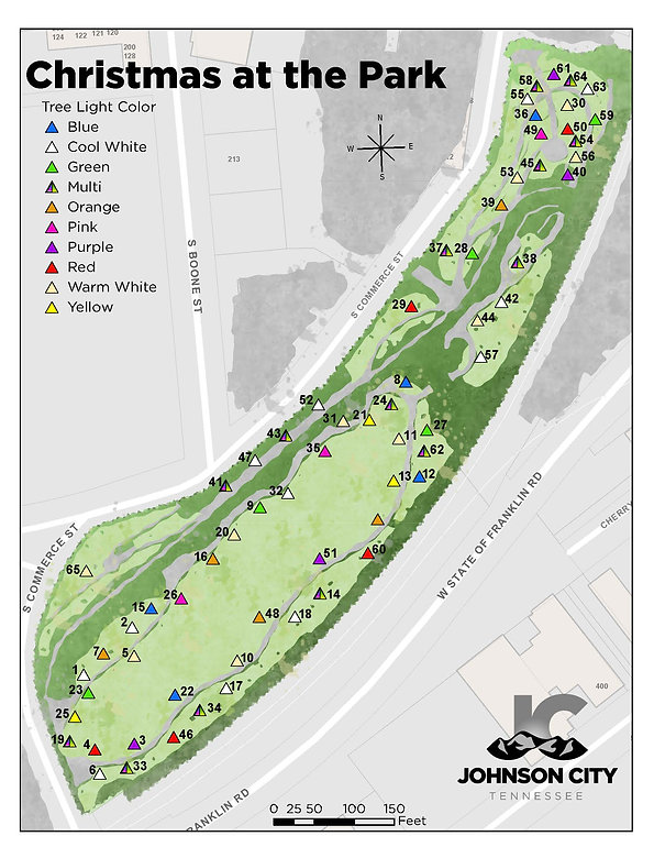 Christmas in the Park Map with colors an