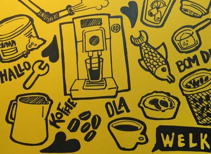 Illustratie koffie/portugal