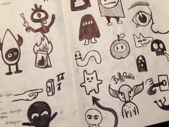 Karakter schetsen voor een mascotte
