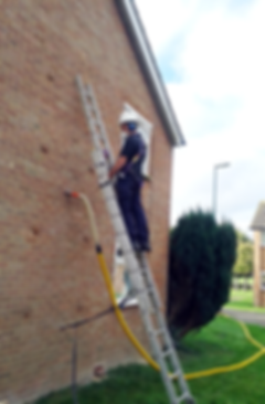 Cavity wall insulation installation process
