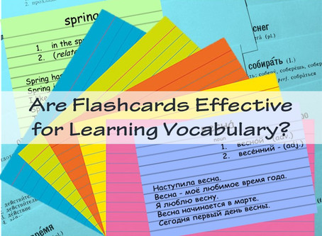Are Flashcards Effective for Learning Vocabulary?