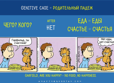 A little bit of grammar: GENITIVE CASE. РОДИТЕЛЬНЫЙ ПАДЕЖ