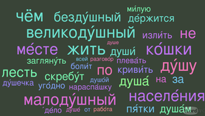 WORD OF THE DAY: душа́
