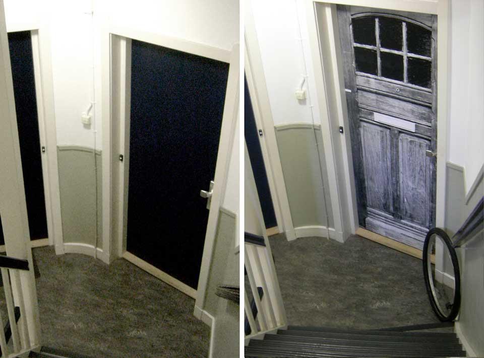 2007, Before and After shot of Marieke's front door