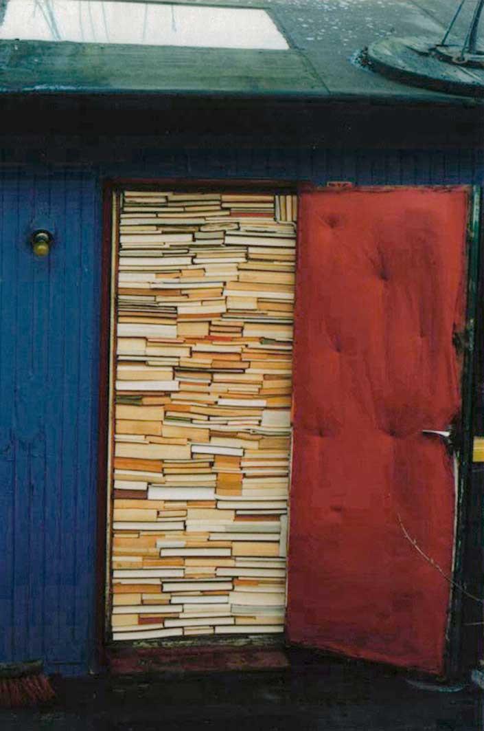 2006 Door stuffed with books