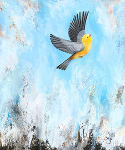 Face Fear & Fly Triptych panel #3(Soaring Free)