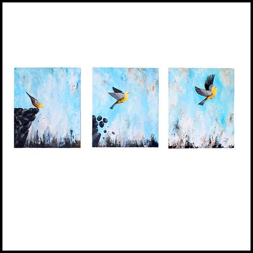 Face Fear & Fly Original Triptych