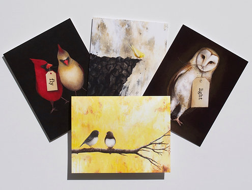Bird Cards- Assorted set of 8