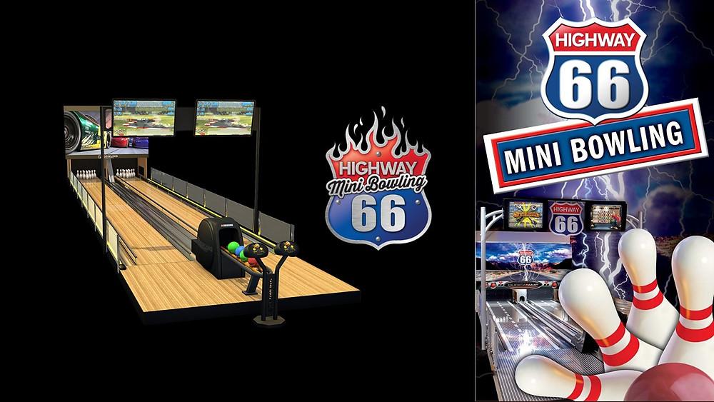 Mini bowling Highway 66