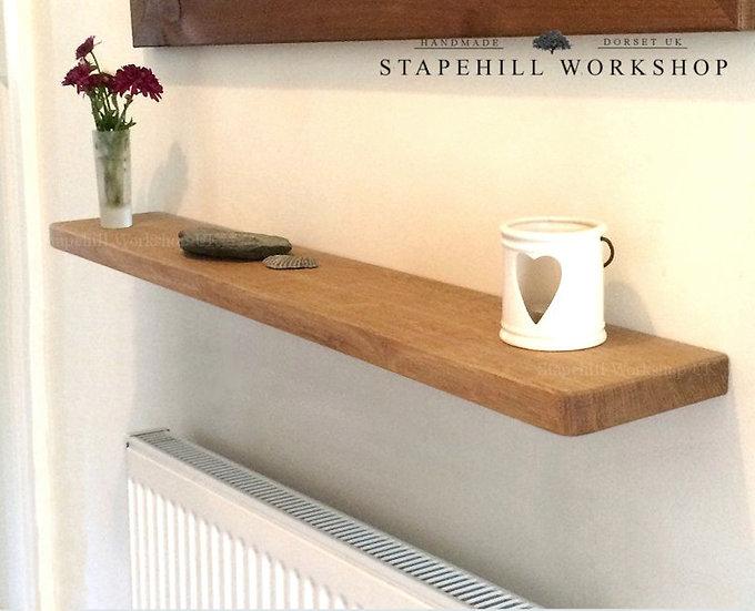 Solid Oak Floating Shelf Radiator Hall Bathroom Kitchen etc