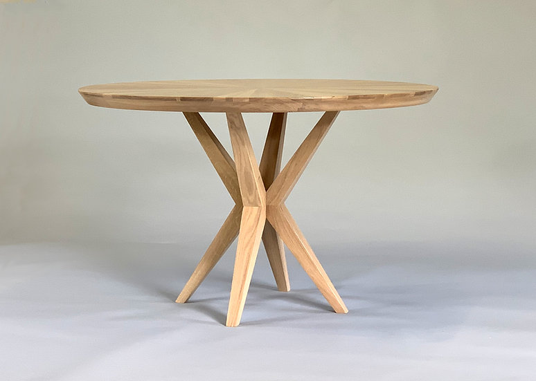 Starburst Round Oak Dining Table