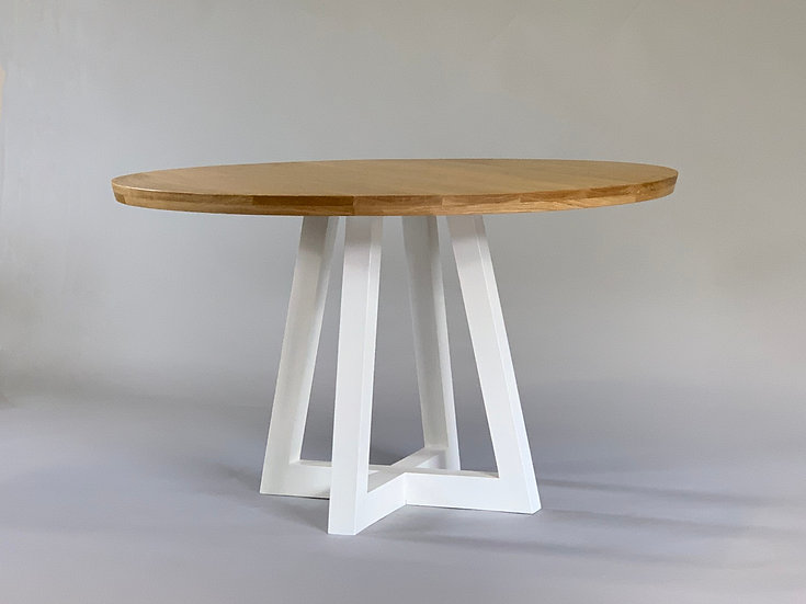 Crossover Round Oak Dining Table