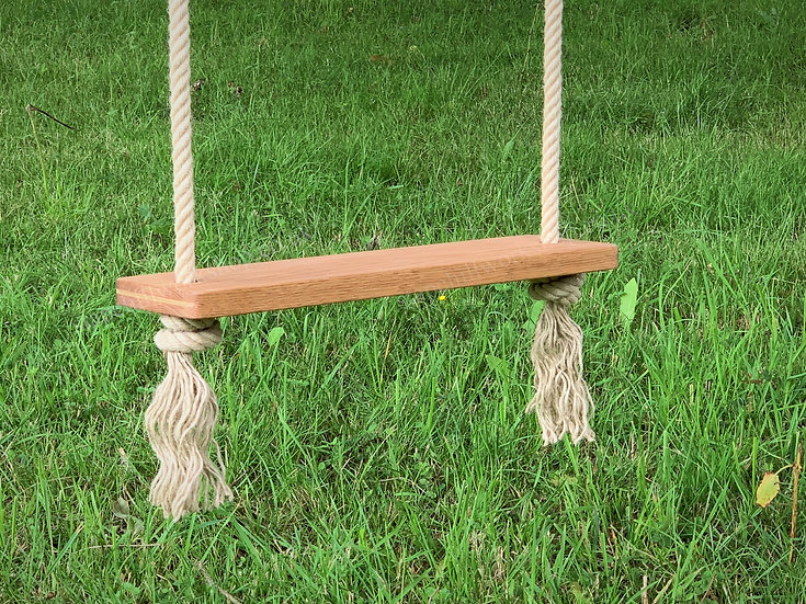 Oak Tree Swing - Traditional - Wooden Garden Rope Swings