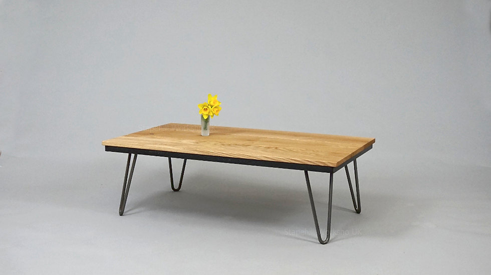 Egmont Character  Oak Coffee Table with hairpin legs