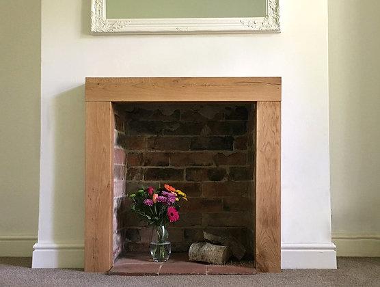 Solid Oak Beam Fireplace Surround Mantelpiece