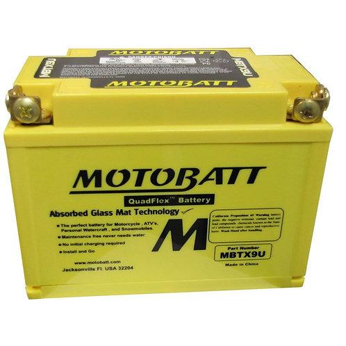 Motobatt MBTX9U - YTX9-BS, YT12ABS, YTZ12S, YTZ14S