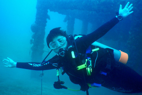 Diver at Iron House