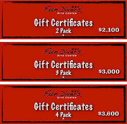 Fun Divers Tw Gift Certificates
