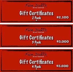 Fun Divers Tw Gift Certificates