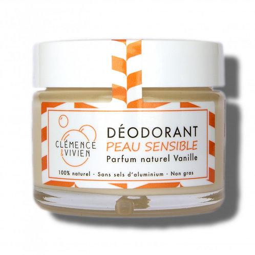 CLEMENCE & VIVIEN - Déodorant Peau Sensible Vanille- 50gr