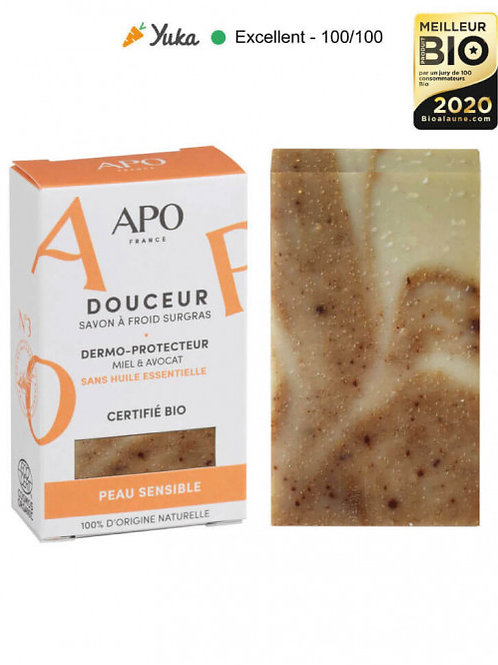 APO - DOUCEUR - Peau Sensible - SAVON A FROID SURGRAS - 100gr
