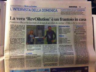 RevOILution on Il Resto del Carlino