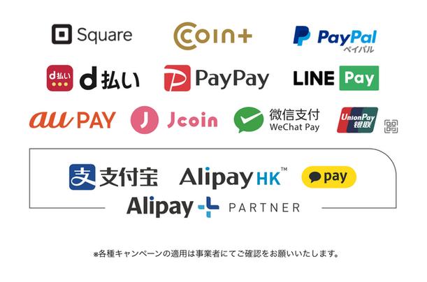対応電子マネー Cashless payment method.