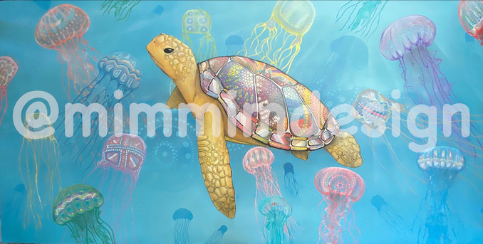Bayuwa painting by Mim Cole and Shaun Lee (Hafleg Art) SOLD