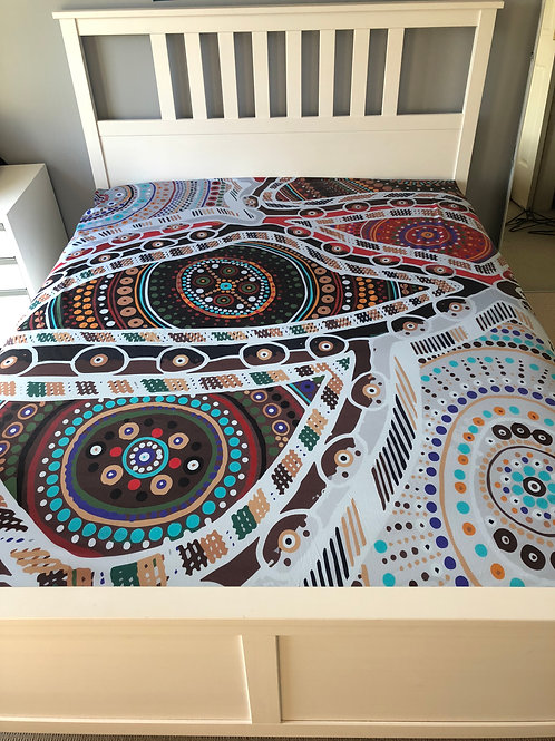 """QUEEN Size """"Family Love"""" Luxury Bed Sheet Set"""