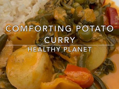 Potato Curry Vegan Dinner Recipe